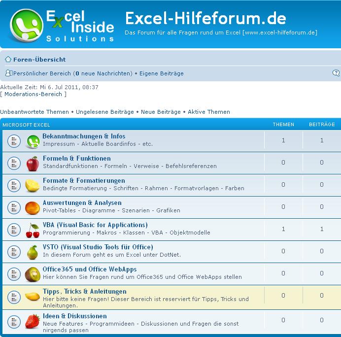 Excel Hilfeforum