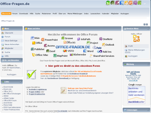 Forum Office Fragen - Excel, Word, Access, Powerpoint